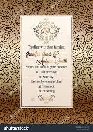 Invitation Card Formal Vintage Baroque Style Wedding Invitation Card Stock Vector