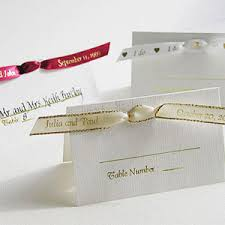 personalized wedding ribbon personalized ribbon seating cards wedding ribbons personalized