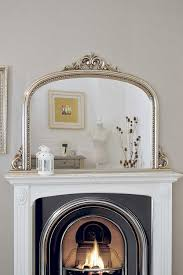 classic french inspired silver overmantle mirror with elegant