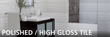 polished high gloss look tile floor decor