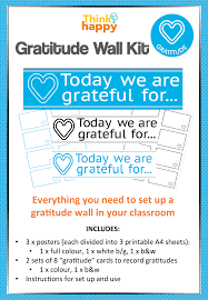 printable instructions classroom simple way of introducing a daily gratitude routine into any
