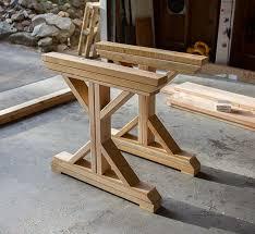 dining room table legs kitchen chronicles building a fancy x farmhouse table farmhouse