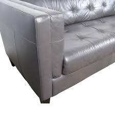 silver tufted sofa 63 off italian navy leather tufted sofa sofas