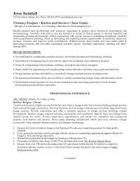 Interior Designer Resume Example Kitchen Designer Resume Free Sample