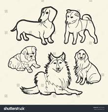 dog sketch icons 2 good use stock vector 295274228 shutterstock