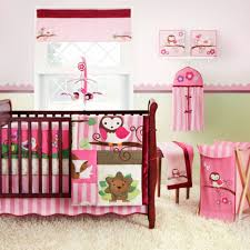 Pink Stripe Rug Bedroom Cute Baby Crib Bedding Sets Pink With Pink Owl Baby