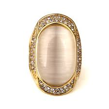 aliexpress buy nyuk new arrival men ring gold hip nyuk big gem with rhinestone gold bling ring men gift hip