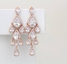 Chandelier Gold Earrings Magnificent Gold Elysia Chandelier Earrings In Bride For Your
