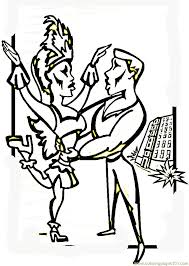 carnival dances coloring page free brazil coloring pages