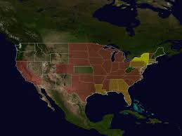 Map Of Continental United States by Svs Progression Of The West Nile Virus Through The Continental