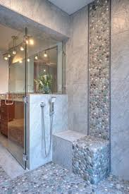 Tile Bathroom Wall Ideas by Best 25 River Rock Bathroom Ideas On Pinterest Master Bathroom