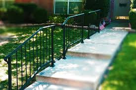 Outdoor Metal Handrails Handrail Installation Iron Handrail Metal Handrail Stairway Railing