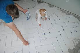 visual eye how to tile a herringbone floor part i