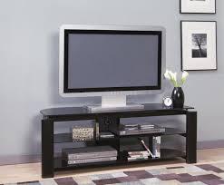 modern tv stands black glass u0026 metal modern tv stand w storage shelves