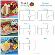 lunch box planner template free printable yumbox classic and panino lunch planner templates to
