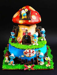 166 best smurf cakes images on pinterest cake cake designs and