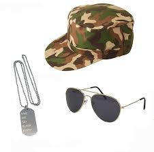 fancy dress accessories army costume standard size