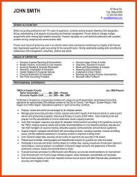 sample senior accountant resume accounting professional resume