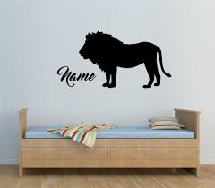 personalised lion any name vinyl wall sticker wall decal kids personalised lion any name vinyl wall sticker wall decal kids bedroom removable wall stickers for boys room jw167 in wall stickers from home garden on