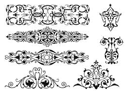 nouveau ornament brushes pack free photoshop brushes at