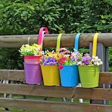 Flower Pot Holders For Fence - plant stand gardenot holders trendy interior or flower