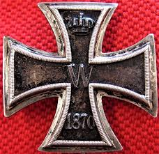 sold ww1 made german 1870 iron cross 1st class for bravery in