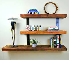 accessories gorgeous diy rustic wood floating shelves design and