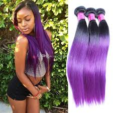 ombre weave purple ombre hair extensions perruque cheveux humain purple
