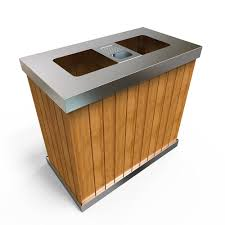 Furniture Recycling by Oslo Sw Vario Outdoor Recycling Bins Stainless Steel Wood