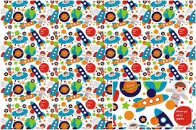 personalized wrapping paper personalized wrapping paper astronaut world