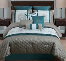 Teal And Grey Bedding Sets Bed Comforters All Black Comforter Teal Comforter Black And