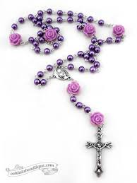 purple rosary beautiful catholic colorful rosary ships and rosary