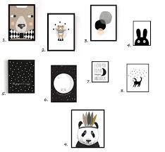 affiche chambre bébé shopping ma séléction d affiches en noir blanc pour chambre