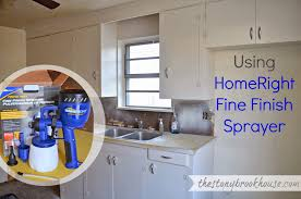 how to paint kitchen cabinets using the homeright finish max