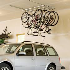 stack bicycle on the wall decor for simple house garage house media