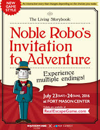 the living storybook noble robo u0027s invitation to adventure real