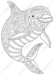 dolphin coloring pages pdf adult coloring pages dolphin zentangle doodle coloring pages for