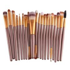 hengsong 20 pcs set make up brush set makeup brush set tools makeup toiletry kit brown gold