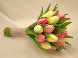 wedding flowers tulips pink tulip bridesmaid s posy bouquet wedding bouquets