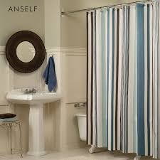 Blue And White Striped Shower Curtain Compare Prices On Shower Curtain Bar Online Shopping Buy Low