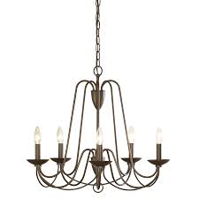 5 light bronze chandelier shop allen roth wintonburg 24 25 in 5 light aged bronze