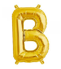large letter foils the balloon stop