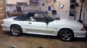 ford mustang gt 1992 1992 white ford mustang gt convertible 5 0l 5 speed for sale