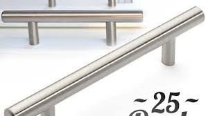 25pcs bar handle pull kitchen cabinet hardware fine brushed