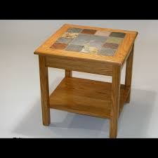 Red Oak Table by Slate Tables