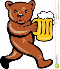 beer cartoon bear beer mug running side cartoon stock vector image 39265566