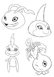 digimon coloring pages free printable cartoon coloring pages of