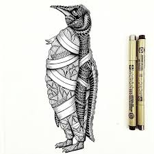 awesome penguin drawing by fayehallidayart tag your best