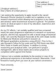 Cover Letter Biotech Biomedical Engineer Cover Letter