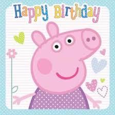 peppa pig happy birthday card new ebay